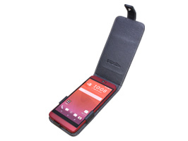PDAIR レザーケース for HTC J butterfly HTV31 縦開きタイプ