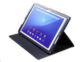 Zenus Metallic Diary for Xperia (TM) Z4 Tablet SO-05G/SOT31/SGP712JP(ネイビー)