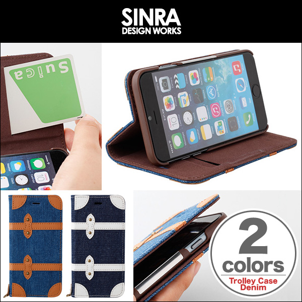 Sinra Design Works Trolley Case Denim for iPhone 6s/6