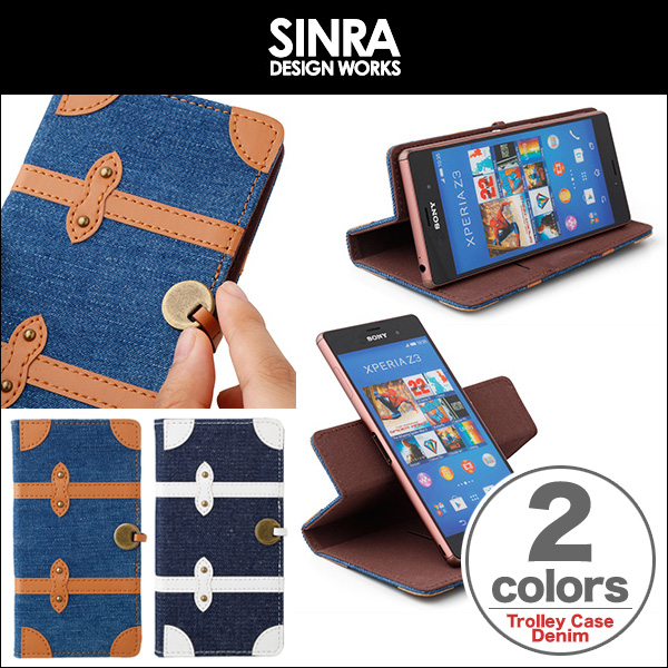 Sinra Design Works Trolley Case Denim for 5inch Smartphone