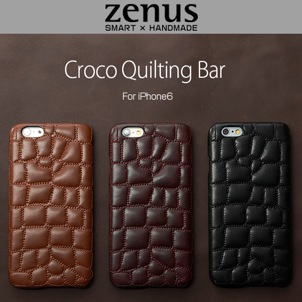 Zenus Croco Quilting Bar for iPhone 6