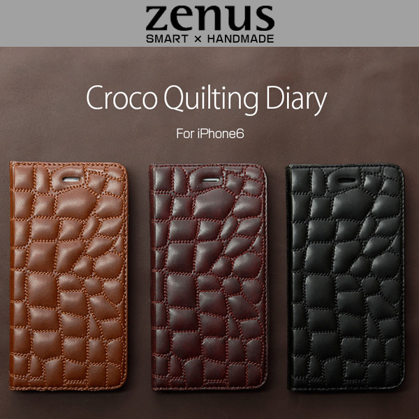 Zenus Croco Quilting Diary for iPhone 6