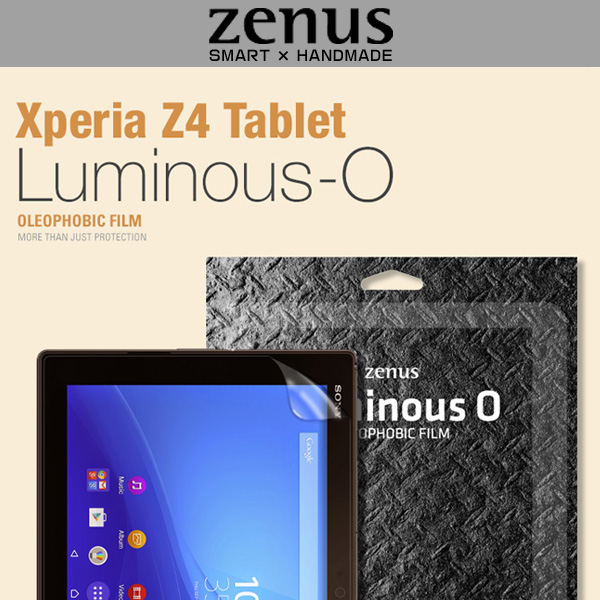 Zenus 液晶保護フィルム Luminous-O for Xperia (TM) Z4 Tablet SO-05G/SOT31/SGP712JP