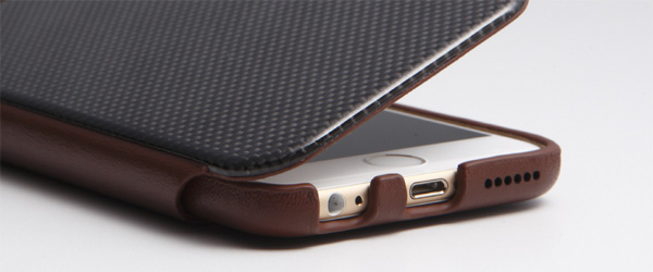 Carbon Fiber & Genuine Leather Case for iPhone 6