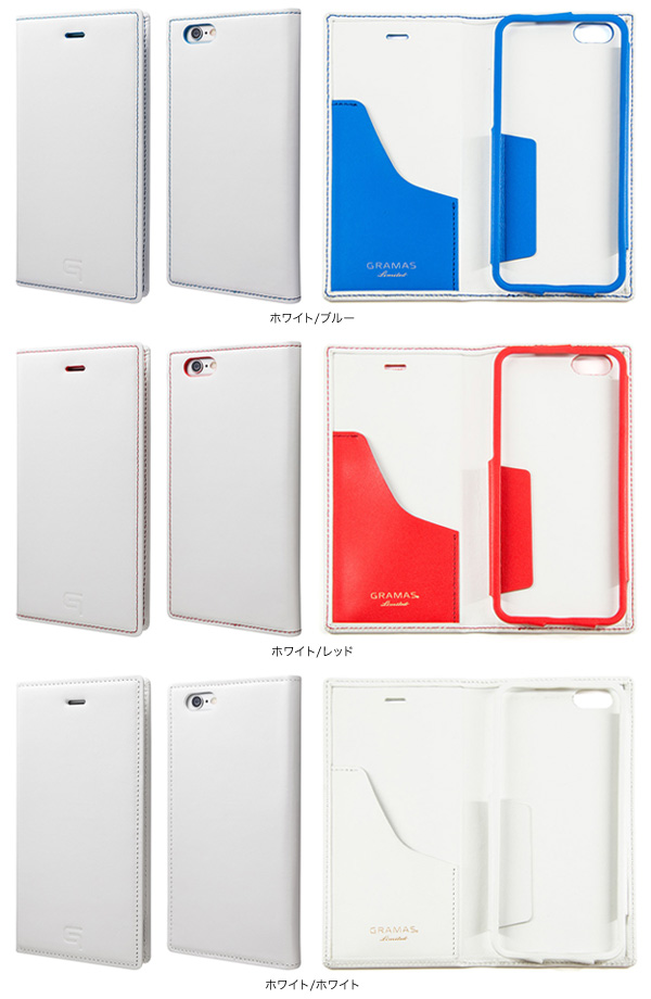 カラー GRAMAS Full Leather Case Tricolor Limited LC634L3 for iPhone 6