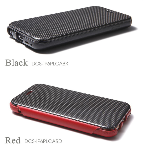 カラー Carbon Fiber & Genuine Leather Case for iPhone 6 Plus