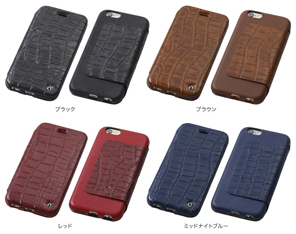 カラー Luxury Genuine Leather Case for iPhone 6s/6