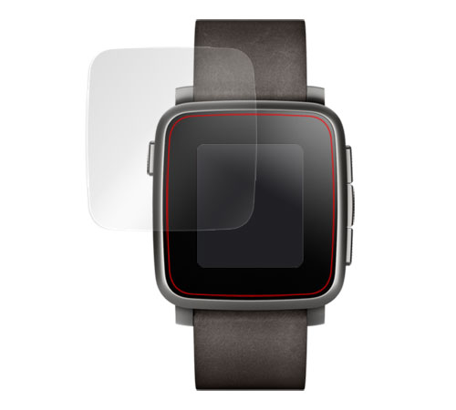 OverLay Brilliant for Pebble Time Steel 極薄保護シート(2枚組) のイメージ画像