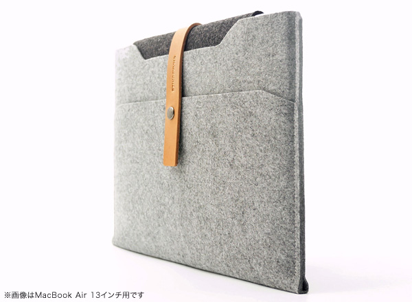 Charbonize レザー & フェルト ケース  for MacBook Air 11インチ(Early 2015/Early 2014/Mid 2013/Mid 2012/Mid 2011/Late 2010)(スリーブタイプ)