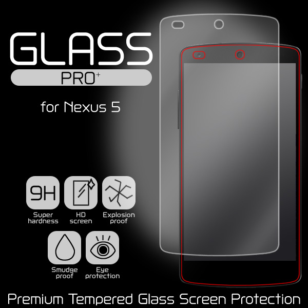 GLASS PRO+ Premium Tempered Glass Screen Protection for Nexus 5