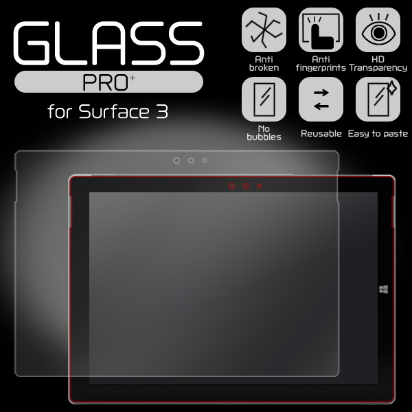 GLASS PRO+ Premium Tempered Glass Screen Protection for Surface 3