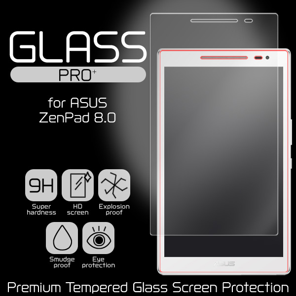 GLASS PRO+ Premium Tempered Glass Screen Protection for ASUS ZenPad 8.0