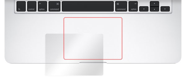 OverLay Protector for トラックパッド MacBook Pro 13 15/MacBook Air 13 のイメージ画像