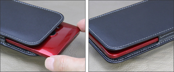 PDAIR レザーケース for HTC J butterfly HTV31 バーティカルポーチタイプ