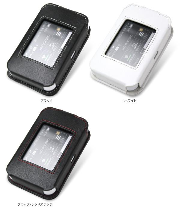 カラー PDAIR レザーケース for Wi-Fi STATION HW-02G スリーブタイプ