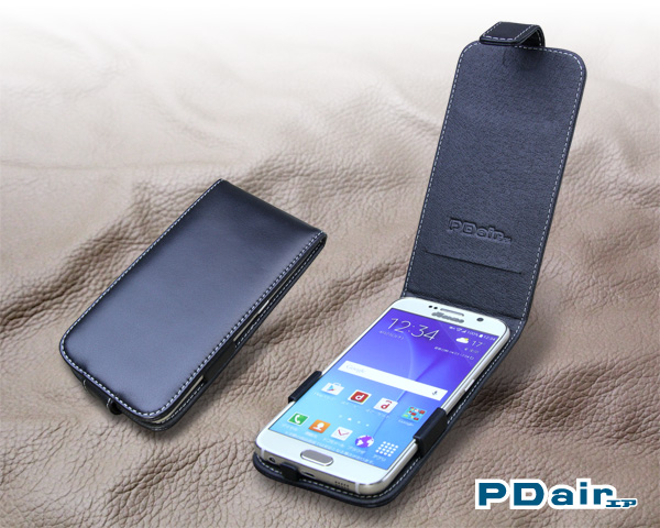 PDAIR レザーケース for Galaxy S6 SC-05G 縦開きタイプ