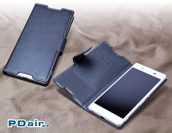 PDAIR レザーケース for Xperia (TM) Z4 SO-03G/SOV31/402SO 横開きタイプ
