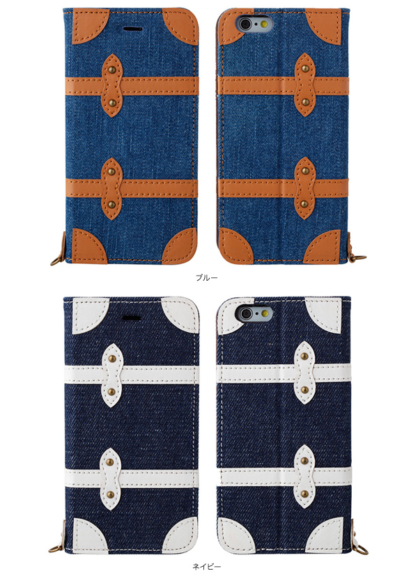 カラー Sinra Design Works Trolley Case Denim for iPhone 6s/6
