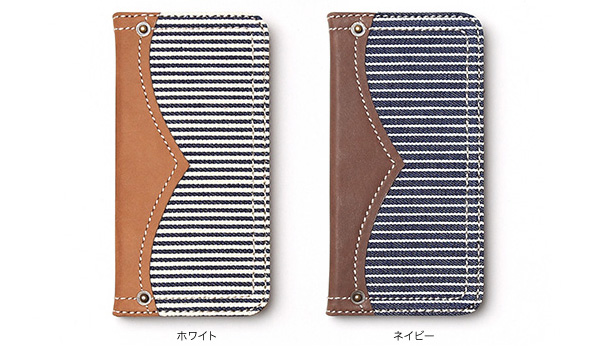 カラー Zenus Denim Stripe Diary for iPhone 6s/6