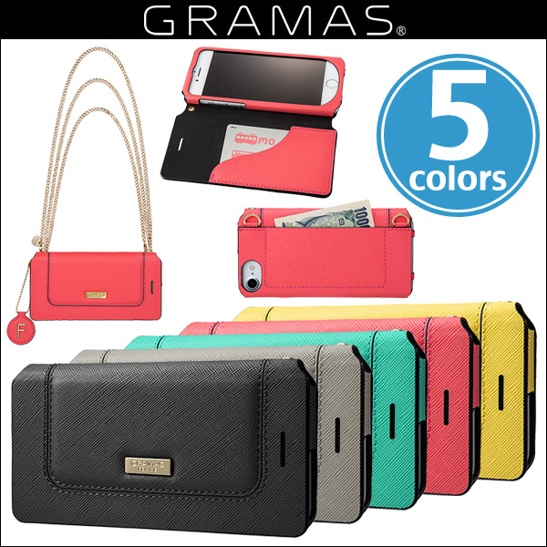 "GRAMAS FEMME ""Sac"" Bag Type Leather Case FLC286 for iPhone 7"