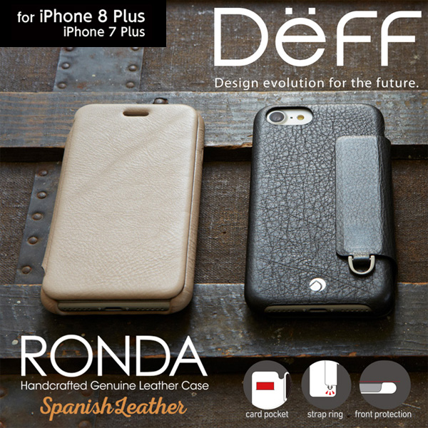 RONDA Spanish Leather Case (フリップタイプ) for iPhone 8 Plus / iPhone 7 Plus