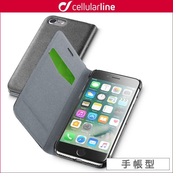 cellularline Book Essential 手帳型カード収納ケース for iPhone 7