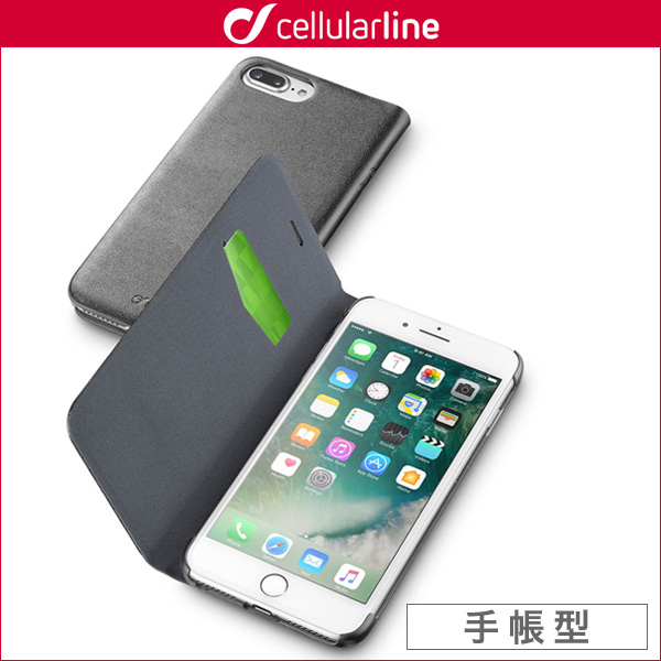 cellularline Book Essential 手帳型カード収納ケース for iPhone 7 Plus