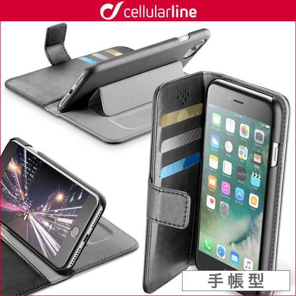 cellularline Book Agenda 手帳スタンド型ケース for iPhone 7 Plus