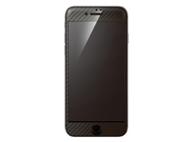 Hybrid Glass Screen Protector 3D カーボン立体カラー for iPhone 8 / iPhone 7(カーボンブラック)