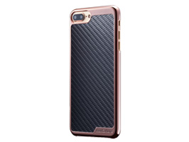 monCarbone KHROME Gunmetal for iPhone 8 / iPhone 7(ローズゴールドブラック)