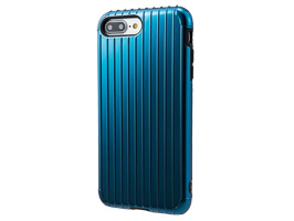 "GRAMAS COLORS ""Rib"" Hybrid case CHC446P for iPhone 8 Plus / iPhone 7 Plus(ネイビー)"