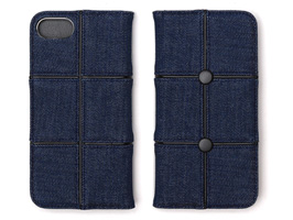 Zenus Denim Patch Work Diary for iPhone 8 / iPhone 7