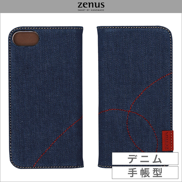 Zenus Denim Stitch Diary for iPhone 8 / iPhone 7