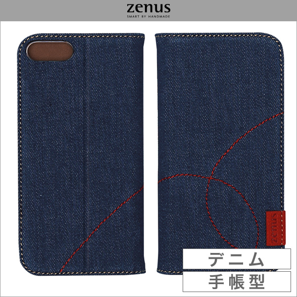 Zenus Denim Stitch Diary for iPhone 7 Plus