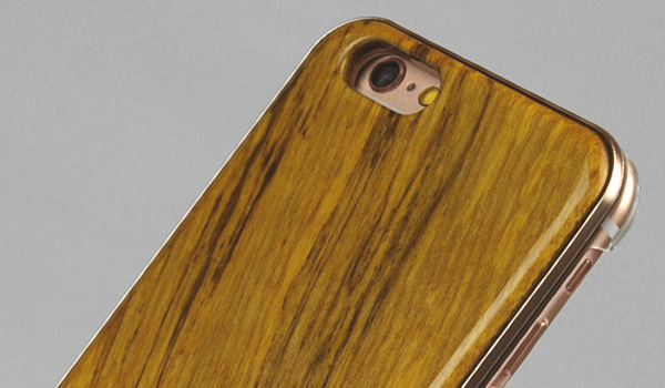 REAL WOODEN CASE COVER 「WoodGrain-木目-」for iPhone 6s/6(ターコイズグリーン )