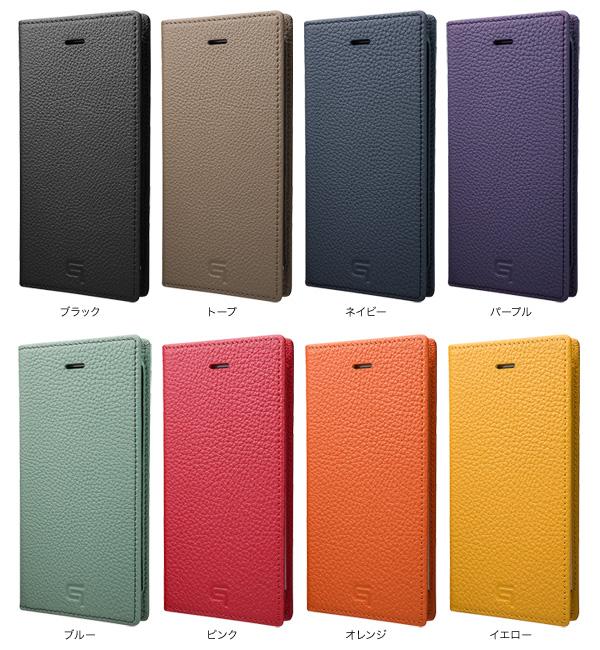 カラー GRAMAS Shrunken-calf Leather Case for iPhone 7