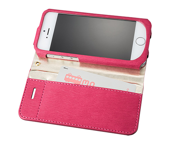 "GRAMAS FEMME ""Colo"" Flap Leather Case FLC226 for iPhone SE / 5s / 5"