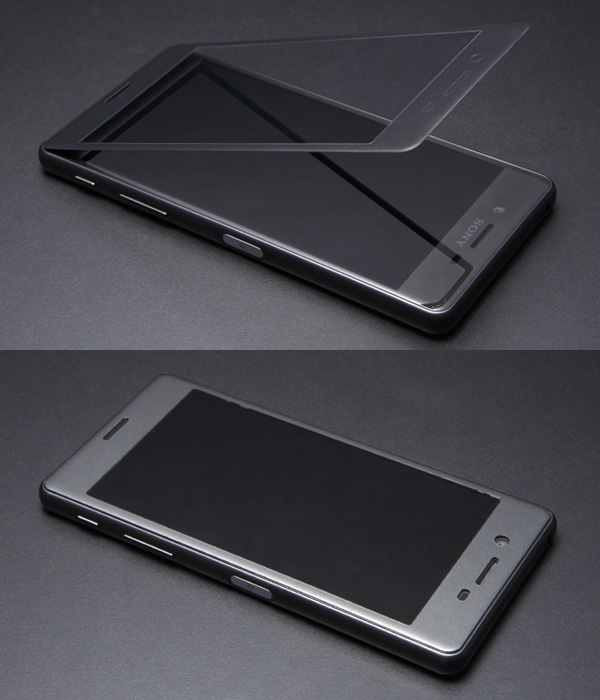 HYBRID Glass Screen Protector 3D ブルーライトカット 0.21mm for Xperia X Performance SO-04H / SOV33