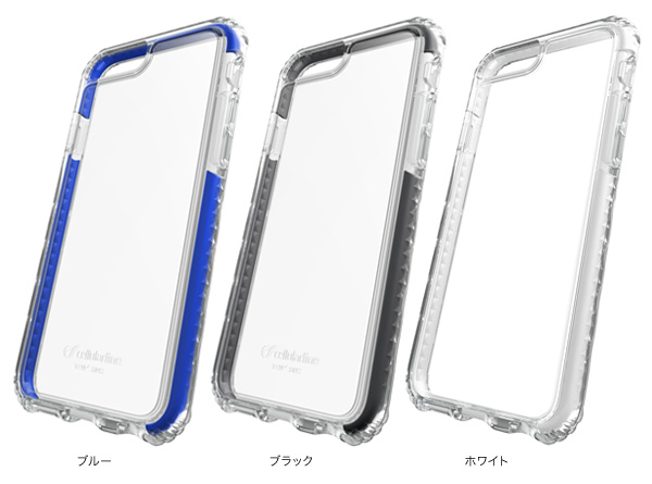 カラー cellularline TETRA case PRO 耐衝撃ケース for iPhone 7 Plus