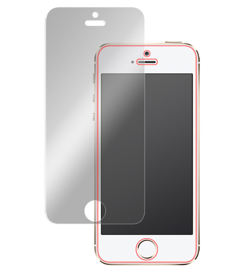 OverLay Eye Protector for iPhone SE / 5s / 5c / 5 表面用保護シート のイメージ画像