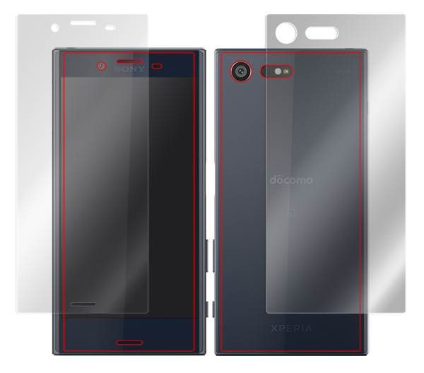 OverLay Eye Protector for Xperia X Compact SO-02J 『表・裏両面セット』 のイメージ画像