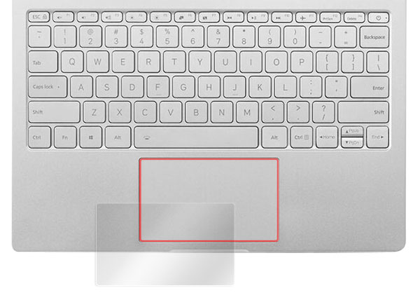 OverLay Protector for トラックパッド Xiaomi Mi Notebook Air 13 のイメージ画像