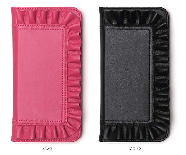 カラー Zenus Ruffle Diary for iPhone 7 Plus