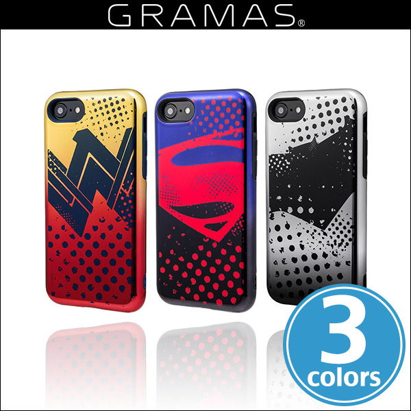 GRAMAS COLORS Hybrid Case with Justice League CHC-50137 for iPhone 8 / iPhone 7