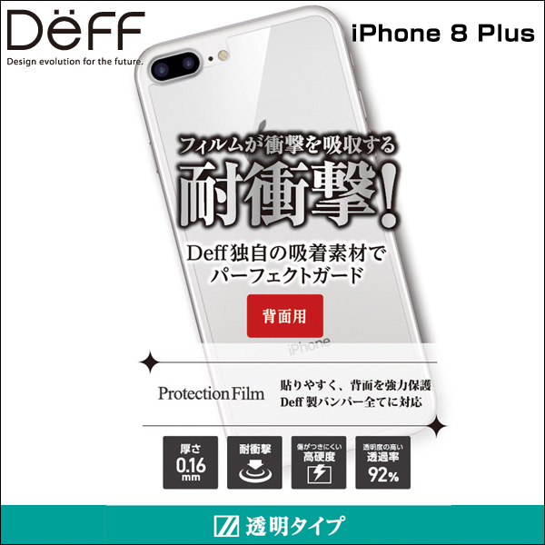 Protection Film 背面用 for iPhone 8 Plus / iPhone 7 Plus
