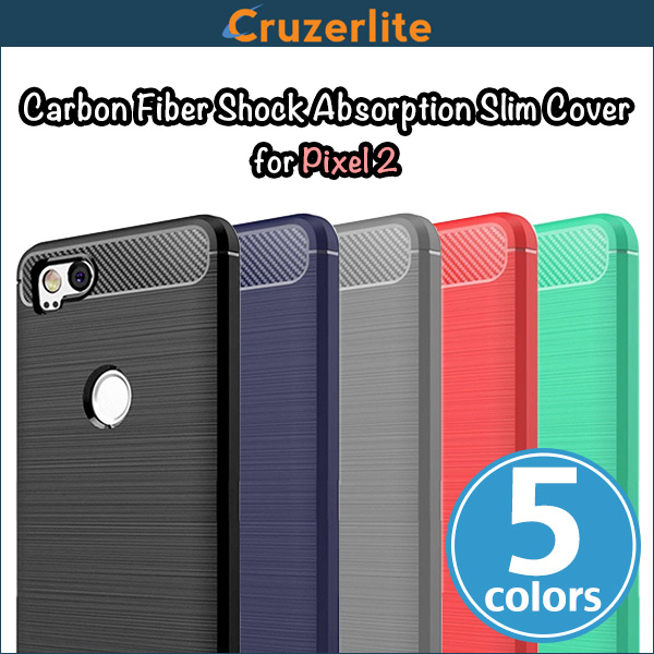 Cruzerlite Carbon Fiber Shock Absorption Slim Cover for Pixel 2
