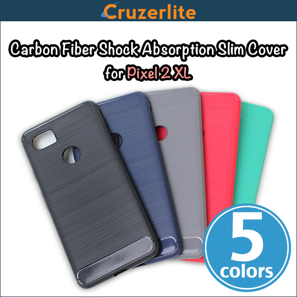 Cruzerlite Carbon Fiber Shock Absorption Slim Cover for Pixel 2 XL