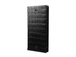 GRAMAS Croco Patterned Full Leather Case GLC6136 for iPhone 7(ブラック)
