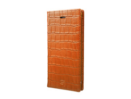 GRAMAS Croco Patterned Full Leather Case GLC6136 for iPhone 7(タン)