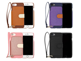 RAKUNI LIGHT PU Leather Case Book Type with Strap for iPhone 7